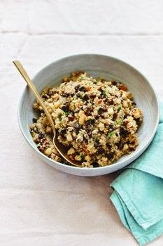 Now & Again .  Free tutorial with pictures on how to cook a quinoa salad in under 35 minutes by cooking with quinoa, kosher salt, and apple cider vinegar. Recipe posted by Abrams.  in the Recipes section Difficulty: Simple. Cost: Cheap. Steps: 5