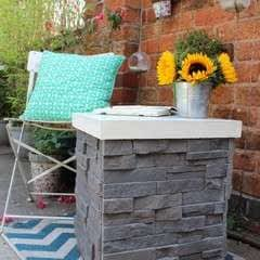 DIY Garden Table Made From Leftover Tiles