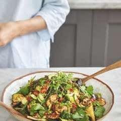 Spicy Miso Aubergine And Broccoli Salad