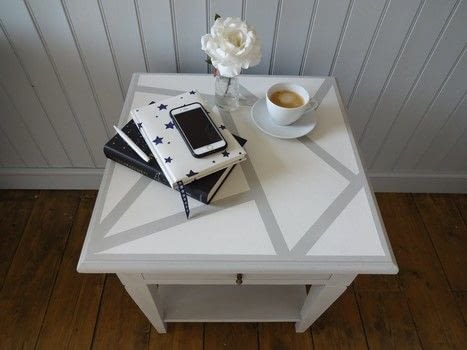 Really Simple Idea to Update an Old Table .  Free tutorial with pictures on how to make a home / garden project in under 60 minutes using paint, paint brush, and sand paper. How To posted by Kezzabeth.  in the Decorating section Difficulty: Easy. Cost: Absolutley free. Steps: 5