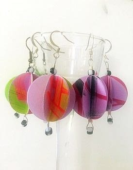 Easy and fun origami earrings .  Free tutorial with pictures on how to make a set of paper earrings in under 30 minutes by jewelrymaking and paper folding with beads, acrylic paint, and cardstock. How To posted by Vesna T.  in the Papercraft section Difficulty: Simple. Cost: Cheap. Steps: 9