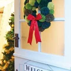 Festive Pompom Wreath