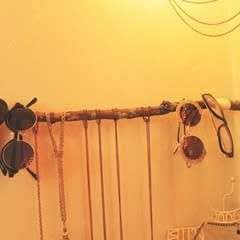Boho Hanging Branch Jewelry Holder