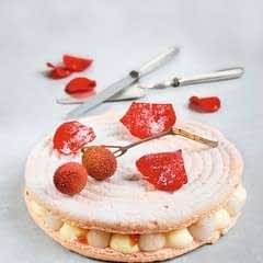Macaronnade With Sugar Frosted Rose Petals