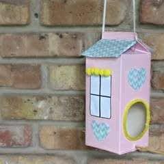 DIY Bird Feeder Made of Milk Carton