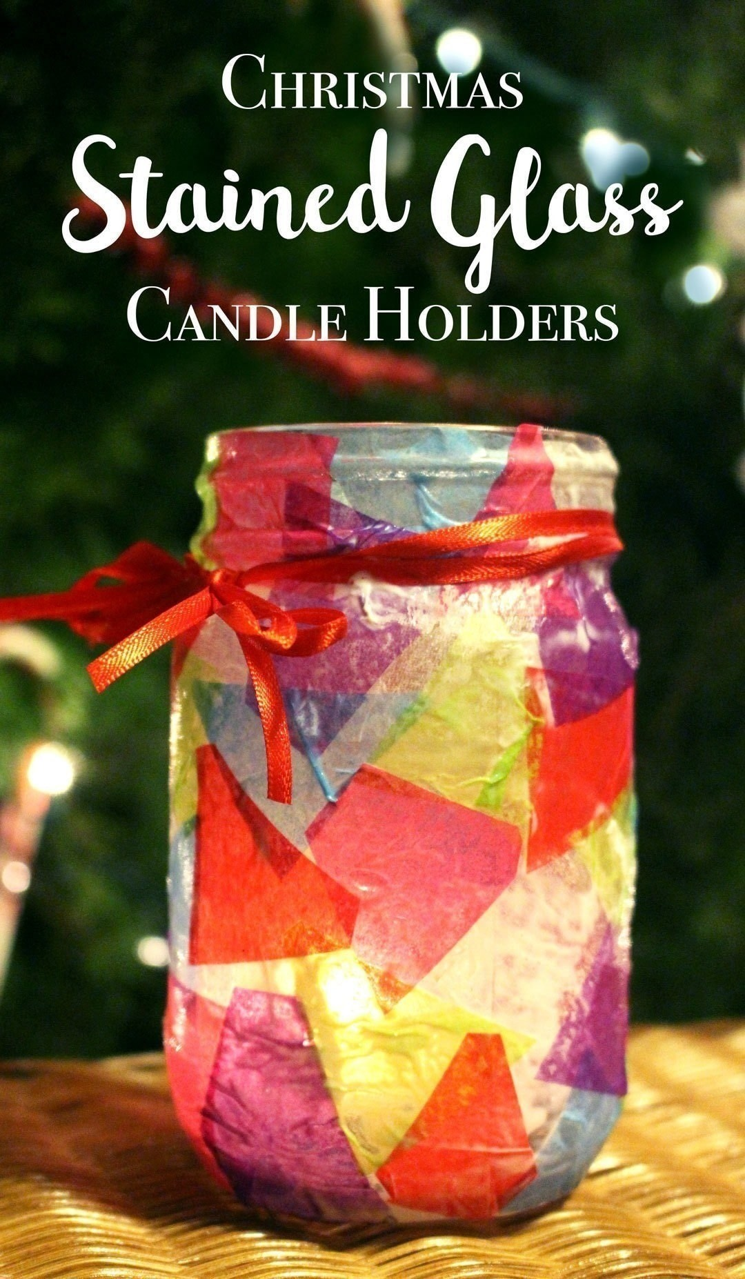 Simple Decoupaged Stained Glass Candle Holder How To Make A Votive Candle Holder Art On Cut Out Keep