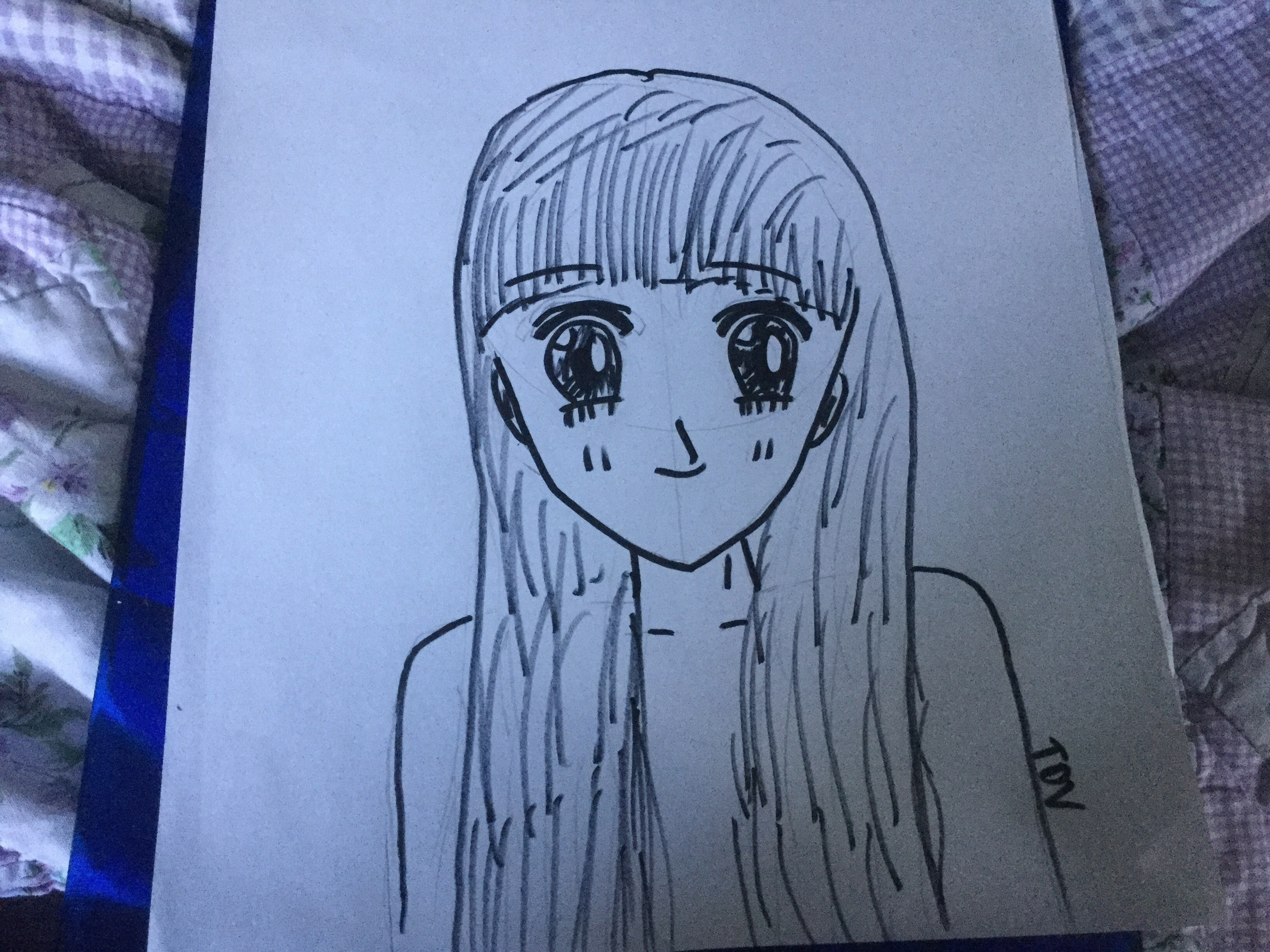 My Manga Drawings A Manga Drawing Art On Cut Out Keep