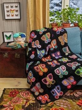 Arne & Carlos: Greatest Knit .  Free tutorial with pictures on how to crochet a granny square blanket in 9 steps by crocheting with yarn, yarn, and crochet hook. Inspired by butterflies. How To posted by Search Press.  in the Yarncraft section Difficulty: 5/5. Cost: 3/5.