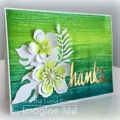 Textured Card With Inks