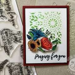 Stenciled Card
