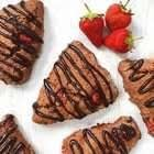 Chocolate Strawberry Scones