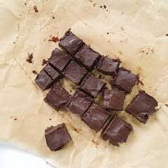 No Bake Dark Chocolate Peanut Butter Fudge