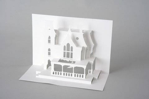 Paper Dandy's Horrorgami .  Free tutorial with pictures on how to cut a piece of papercutting in under 60 minutes by creating and papercrafting with card and template. Inspired by halloween and house. How To posted by Laurence King.  in the Papercraft section Difficulty: Simple. Cost: Cheap. Steps: 6