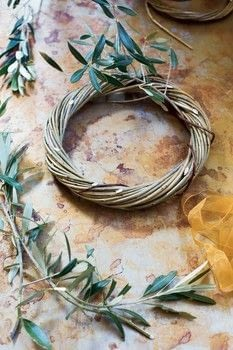 Willow .  Free tutorial with pictures on how to make a branch & twig wreath in under 60 minutes by decorating, weaving, and woodworking with willow, secateurs, and bottle. How To posted by Aurum Press.  in the Home + DIY section Difficulty: Simple. Cost: Cheap. Steps: 7