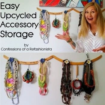 Upcyle some groovy storage from items you already have in house! .  Free tutorial with pictures on how to make a jewelry hanger in under 25 minutes using hanger, drawer, and tools. Inspired by vintage & retro. How To posted by Confessions of a Refashionista.  in the Home + DIY section Difficulty: Simple. Cost: No cost. Steps: 1