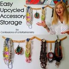 Easy Upcycled Diy Accessory Holder + Jewellery Storage
