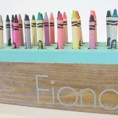 Wood Crayon Holder