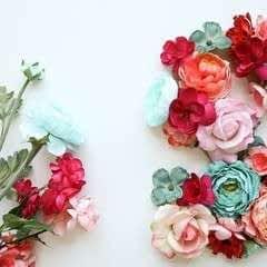 Floral Letter Sign