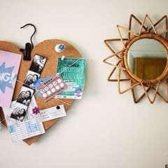 Diy Love Heart Cork Board