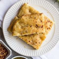 Cheesy Red Pepper Focaccia Bread