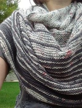 Striped single ply shawl  .  Make a knit scarf / crochet scarf using yarn, spices, and needles. Creation posted by sneezerville.  in the Yarncraft section Difficulty: Easy. Cost: 3/5.