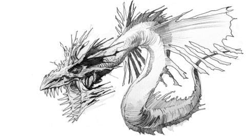 Fantastic Creatures and How to Draw Them .  Free tutorial with pictures on how to draw & paint a piece of animal art in under 30 minutes by drawing with pencils and paper. Inspired by dragon. How To posted by Search Press.  in the Art section Difficulty: Simple. Cost: Cheap. Steps: 6