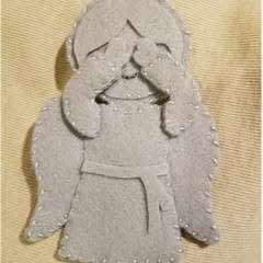 Weeping Angel Felt Ornament
