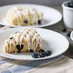 Grain Free Blueberry + Lemon Scones