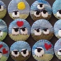 Sheep Brooches