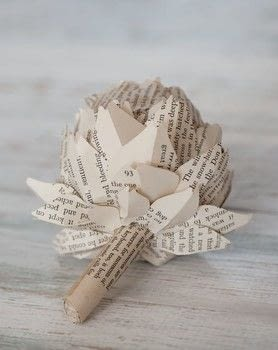 Book Art .  Free tutorial with pictures on how to make a paper flower in under 60 minutes by papercrafting and paper folding with books, pencil, and tracing paper. How To posted by Ryland Peters & Small.  in the Papercraft section Difficulty: Simple. Cost: Cheap. Steps: 6