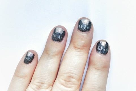 A purrfect black cat manicure! .  Free tutorial with pictures on how to paint an animal nail in under 15 minutes by nail painting with nail polish, nail polish, and nail polish. Inspired by halloween and cats. How To posted by Cat Morley.  in the Beauty section Difficulty: 3/5. Cost: Cheap. Steps: 7