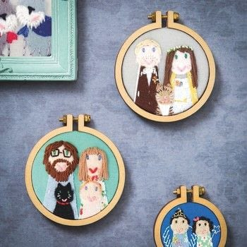 Mini Hoop Embroideries .  Free tutorial with pictures on how to embroider art in under 120 minutes by embroidering with fabric, fabrics, and felt. How To posted by DarkLady1993.  in the Needlework section Difficulty: 3/5. Cost: 3/5. Steps: 14