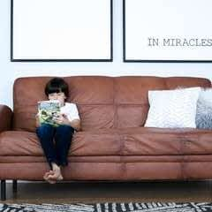 Paint Your Old Couch To Look And Feel Like Leather!