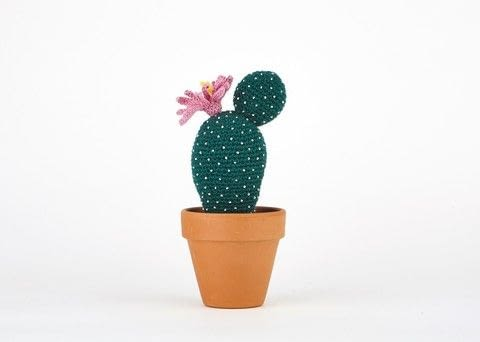 Echinocereus Schereri .  Free tutorial with pictures on how to make a plant plushie in under 120 minutes by crocheting with crochet hook, wool yarn, and cotton yarn. Inspired by cactus. How To posted by Search Press.  in the Yarncraft section Difficulty: 3/5. Cost: 3/5. Steps: 4