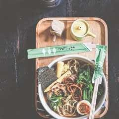 Vegetarian Ramen With Baby Corn And Pickled Shiitakes