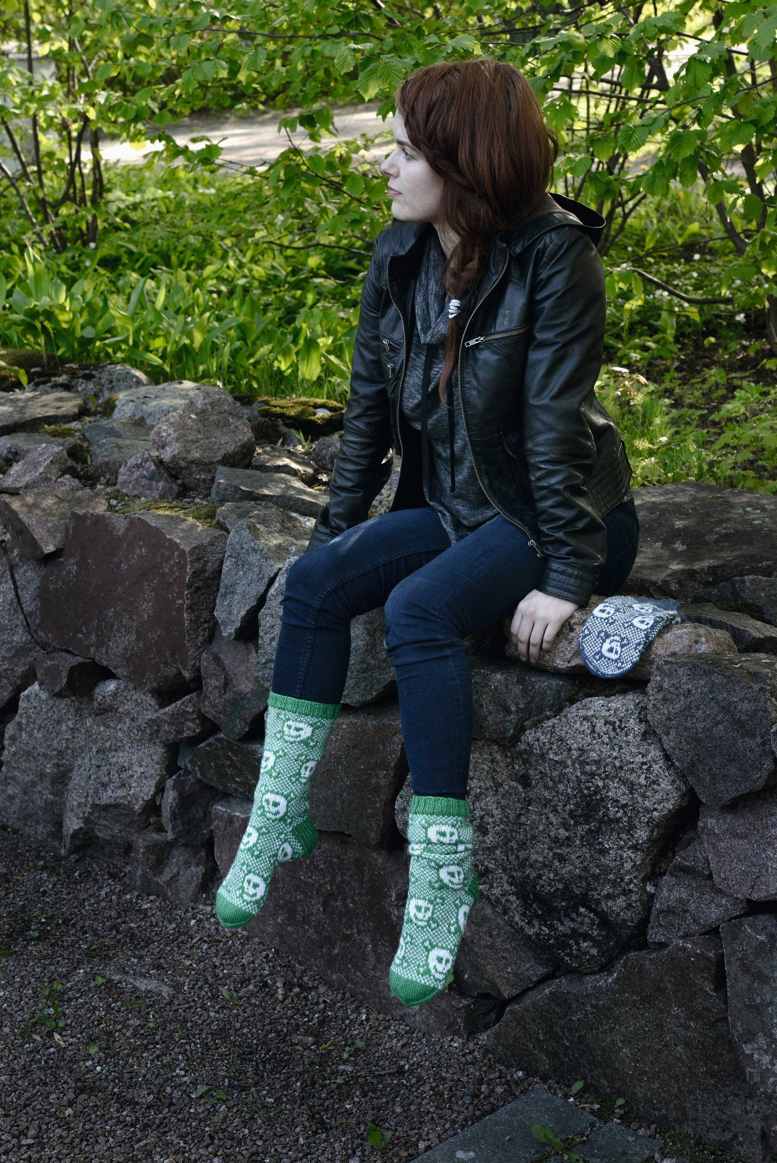 Merry Skull Socks 183 Extract From Wild Mittens Amp Unruly