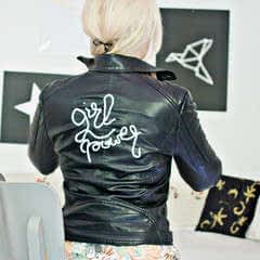 Diy   (Faux) Leather Jacket – 3 D Embroidery