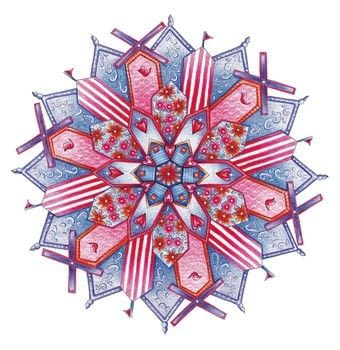 Freestyle Embroidered Mandalas .  Free tutorial with pictures on how to embroider art in 25 steps by embroidering with linen, backing fabric, and embroidery hoop. How To posted by Search Press.  in the Needlework section Difficulty: 3/5. Cost: Cheap.