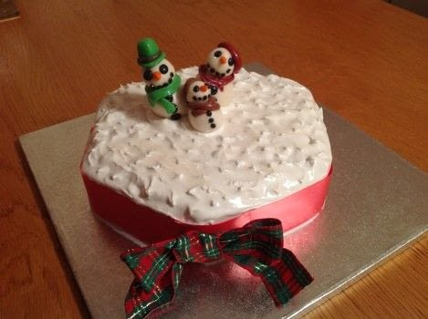 Christmas Cake  .  Bake a Christmas cake in under 120 minutes by cooking, baking, decorating food, and cake decorating with cake, royal icing, and marzipan. Creation posted by Super Madcow. Difficulty: Simple. Cost: 3/5.