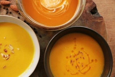 Seasonal Soups .  Free tutorial with pictures on how to cook squash soup in under 10 minutes by cooking with olive oil, onion, and chilli. Inspired by scottish. Recipe posted by Kitchen Press.  in the Recipes section Difficulty: Simple. Cost: Cheap. Steps: 4