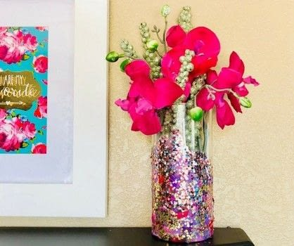 Creating a beautiful life, one craft at a time.  .  Free tutorial with pictures on how to make a vase in under 120 minutes by decorating with decoupage glue, glitter, and tissue paper. How To posted by Holly L.  in the Decorating section Difficulty: Easy. Cost: No cost. Steps: 7
