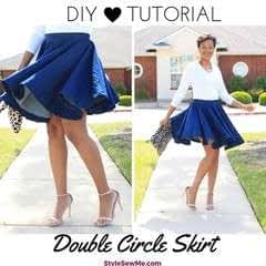Super Twirly Half Circle Skirt Tutorial