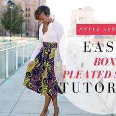 Box Pleat Skirt Tutorial