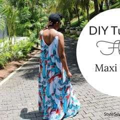 From Tank Top To Flowy Maxi Dress Tutorial