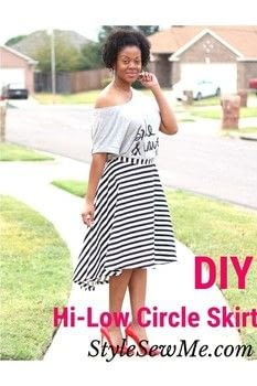 Sew a circle skirt .  Free tutorial with pictures on how to make a circle skirt in under 180 minutes by sewing with woven fabric, tailor's chalk, and pins. How To posted by Style Sew Me.  in the Sewing section Difficulty: Simple. Cost: Cheap. Steps: 1