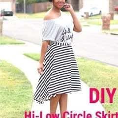 Hi Low Circle Skirt