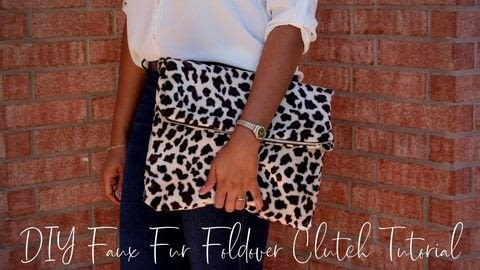 Sew a Faux Fur Foldover Clutch .  Free tutorial with pictures on how to make a clutch in under 120 minutes by sewing with faux fur, cotton lining, and interfacing. How To posted by Style Sew Me.  in the Sewing section Difficulty: Simple. Cost: Cheap. Steps: 1