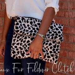 Faux Fur Foldover Clutch Tutorial