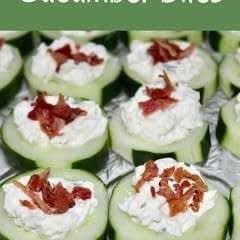 Cream Cheese & Bacon Cucumber Bites