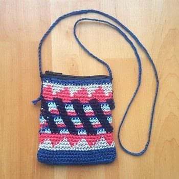 Crochet neck coin purse .  Stitch a knit or crochet pouch using crochet hook, zipper, and needle and thread. Inspired by bohemian and aztec. Creation posted by EVEnl.  in the Yarncraft section Difficulty: Simple. Cost: Cheap.